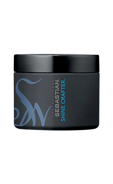 A black and blue pot of Shine Crafter hair wax